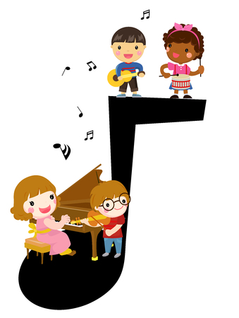 Kids and music. Group lesson.