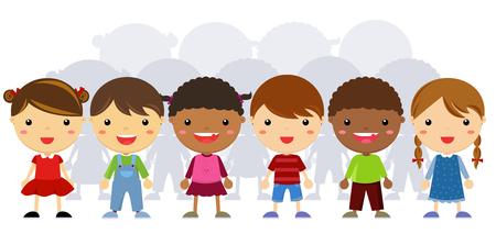 Group of children standing Ilustracja