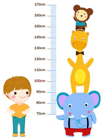 height meter measurement for children  イラスト・ベクター素材