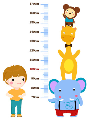 height meter measurement for children 일러스트