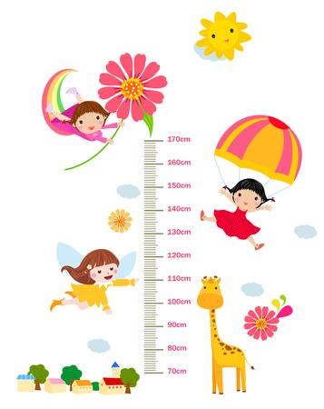 Children height meter Ilustracja