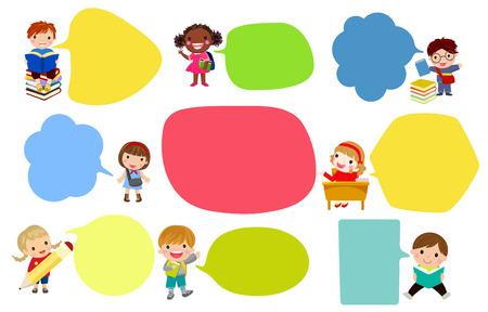 Children with empty speech bubbles