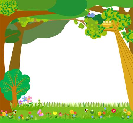 Cartoon jungle with blank space Ilustracja