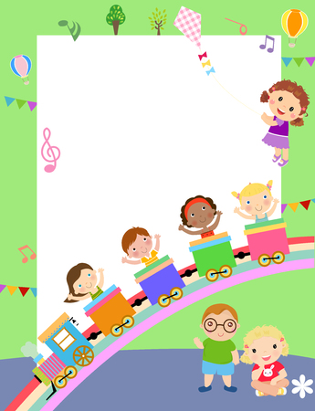 Children with copyspace Ilustracja