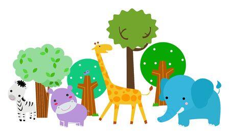 Group of animals. Ilustracja