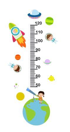 Children height meter.