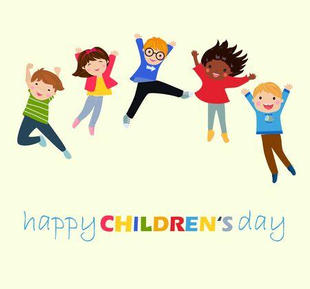 Happy childrens day Ilustracja