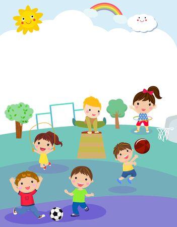 Kids and sport playground
