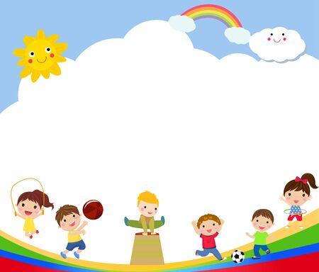 Kids and sport playground.