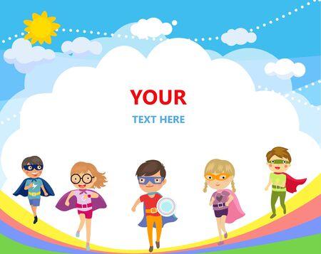 Superhero kids cartoon