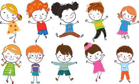 Group of cute kids