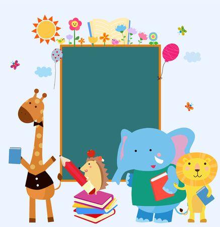 Illustration of group of animal
