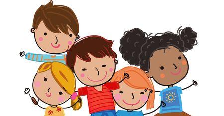 Cartoon kids illustration 矢量图像