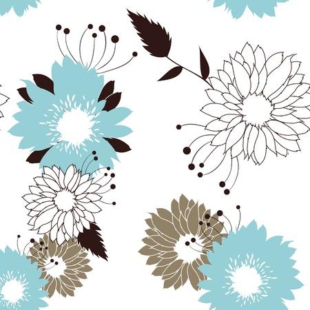 Flowers seamless retro pattern  Stock Vector - 9153938