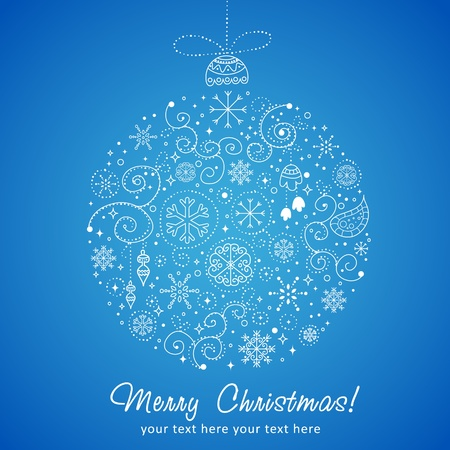 Stylized design Christmas decoration  Vector
