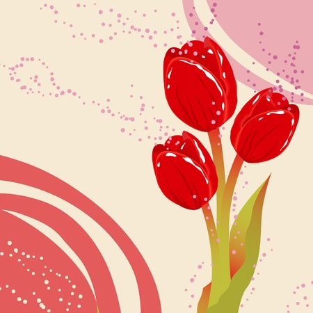 Spring postcard with flowers Vector