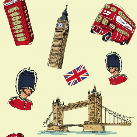 London seamless pattern Illustration
