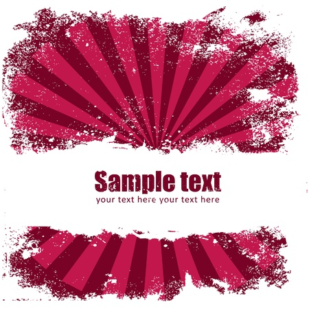 Grunge banner with an inky splatter strip and radial beams Stock Vector - 11658086