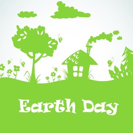 tierra caricatura: D�a el planeta Tierra s�mbolo ecol�gico