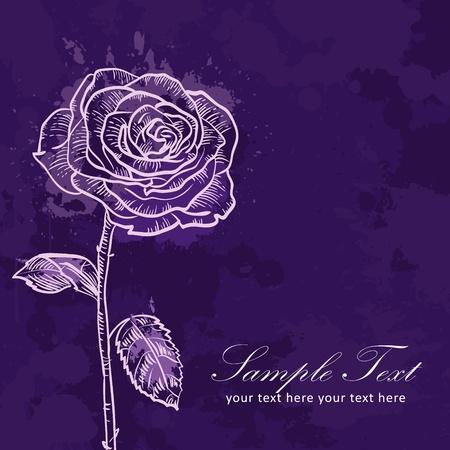 Valentine flower grunge invitation love card with rose Vector