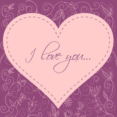 doodle art clipart: Lovely Valentine