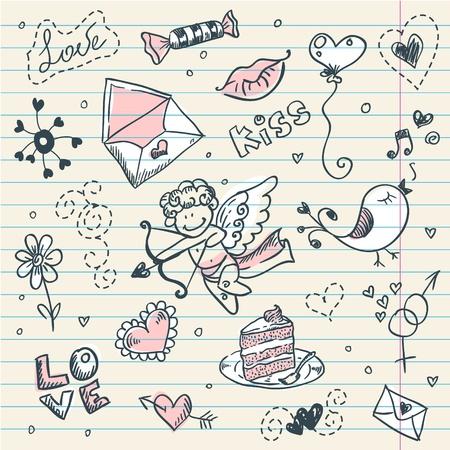 Doodle Valentine Vector
