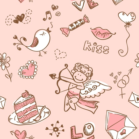 the valentine: Doodle Valentine Illustration