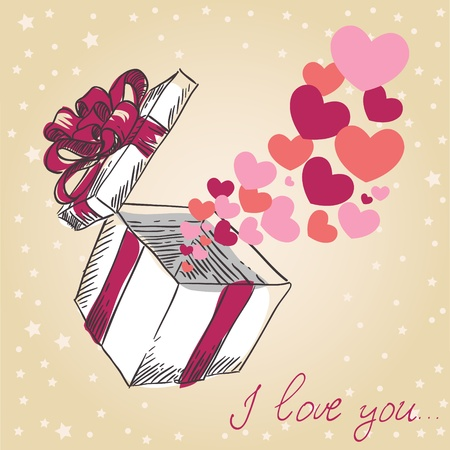postcard box:  Valentine