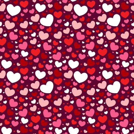 Cute Valentine love seamless pattern with colorful hearts Stock Vector - 11862250