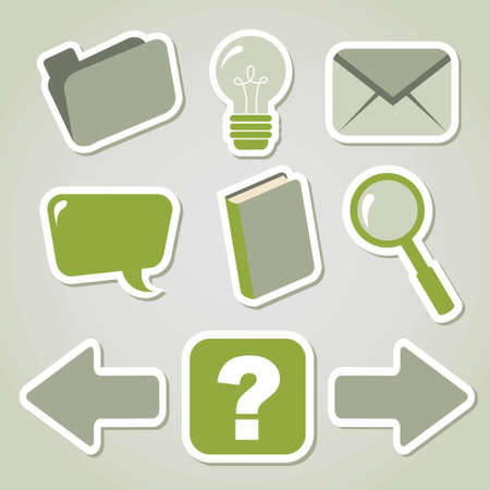 Computer icon set for web design and programms Vector
