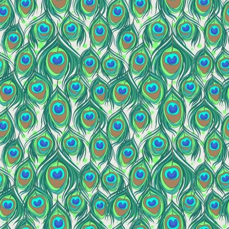 piume: Colorful piume di pavone modello senza soluzione di continuit�