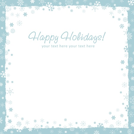 New Year (Christmas) background with snowflakes border and grunge elements Stock Vector - 16034715