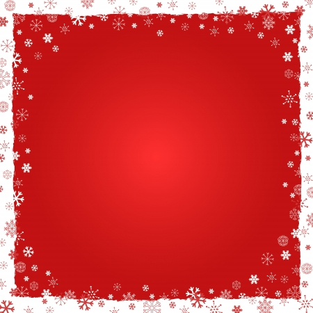 yule: New Year (Christmas) background with snowflakes border and grunge elements Illustration