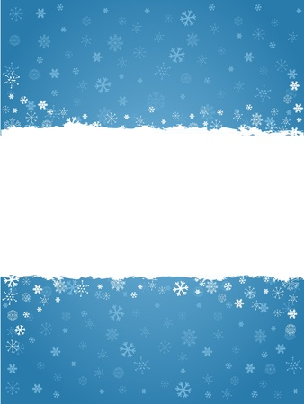 Winter invitation postcard with snowflakes and grungy empty  place for text Stock Vector - 16234165