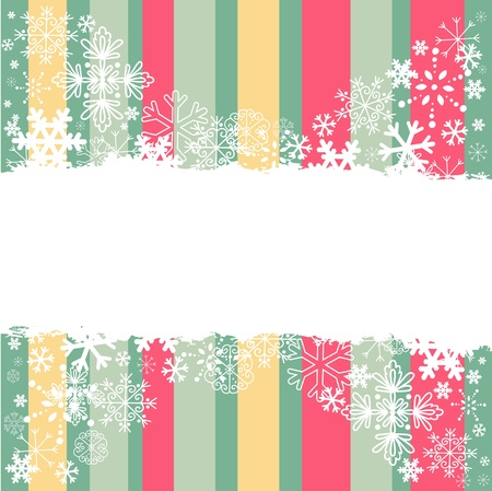Winter invitation postcard with snowflakes and grungy empty  place for text Stock Vector - 16548350