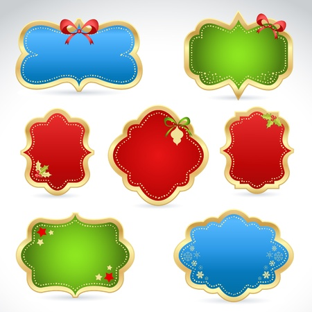 Winter design Christmas sale stickers and tags for text and discounts Vector