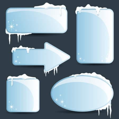 icicle: Winter design Christmas sale stickers and tags for text and discounts