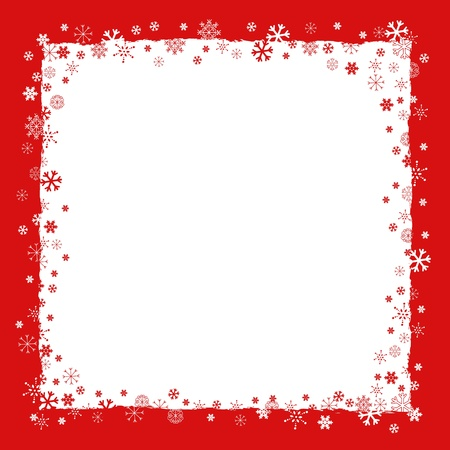 New Year  Christmas  background with snowflakes border and grunge elements Vector