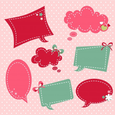 Retro romantic love stickers and tags with vintage elements Stock Vector - 17437994