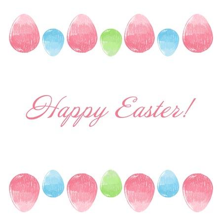 Scribble hand drawn design Easter eggs border frame Stock Vector - 17902485