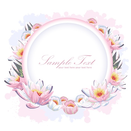 greeting people: Elegant colorful flower invitation postcard