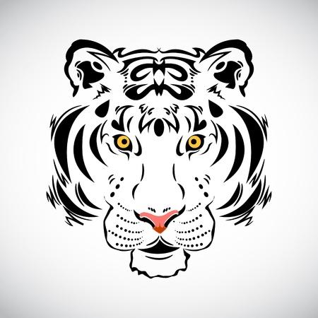 wildcat: Tiger tattoo stylish ornate illustration