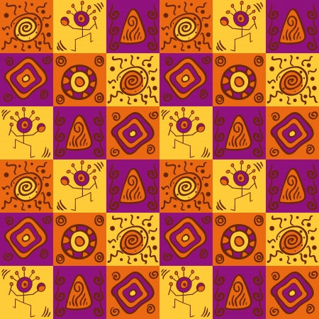 Abstract ethnical african seamless geometric pattern Vector