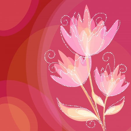 Elegant colorful flower invitation postcard Vector