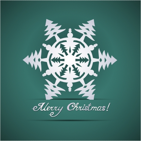 Paper origami christmas snowflake card Stock Vector - 20617606