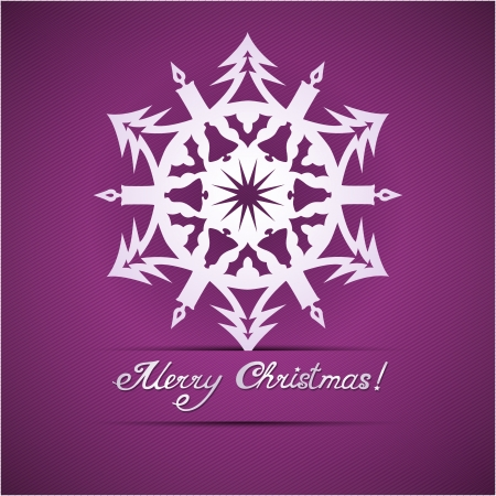 yea: Paper origami christmas snowflake card Illustration