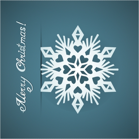 Paper origami christmas snowflake card Stock Vector - 20617608