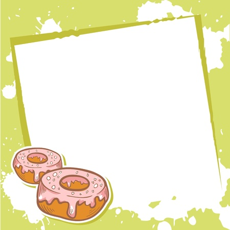advertisment: Advertisment invitation card with delicious doughnuts Illustration