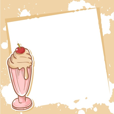 Advertisment invitation card with delicious milkshake Vector