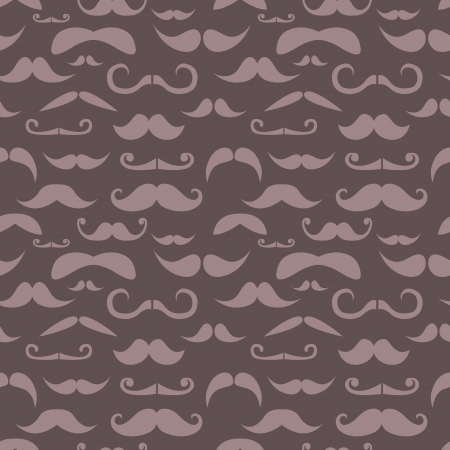 Retro hipster moustache seamless pattern